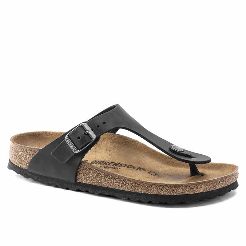 Birkenstock Sandaler, Gizeh Oiled, Black Sandaler i skind - regular fit - gizeh sandal sort