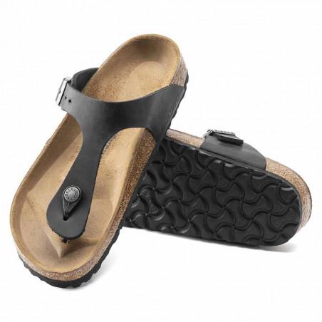 Birkenstock Sandaler, Gizeh Oiled, Black Sandaler i skind - regular fit - gizeh sandal sort par