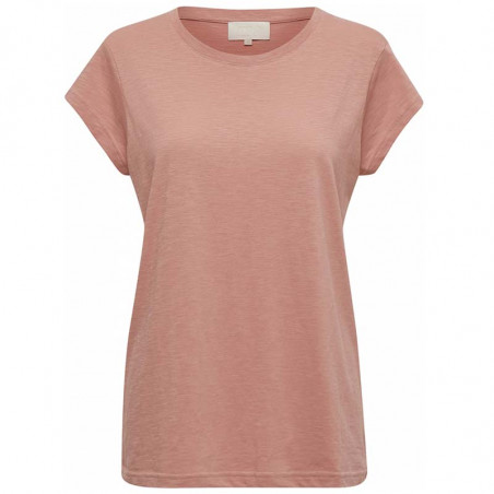 Minus T-shirt, Leti Tee, Old Rose Melange Basis t-shirt i rosa