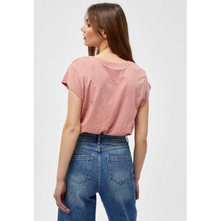 Minus T-shirt, Leti Tee, Old Rose Melange Basis t-shirt i rosa set bagfra