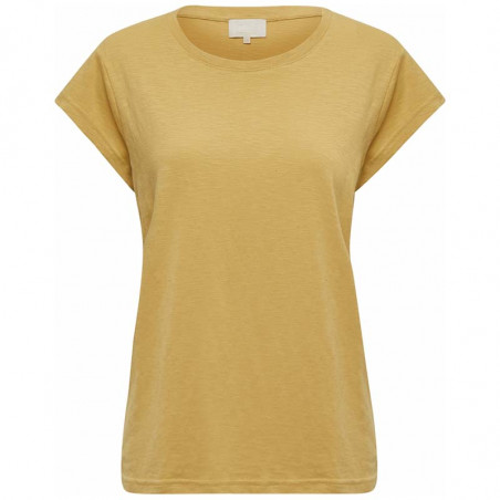 Minus T-shirt, Leti, Prairie Sand Basis T-shirt i bomuld