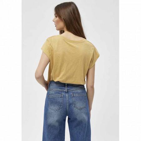 Minus T-shirt, Leti, Prairie Sand Basis T-shirt i bomuld set bagfra