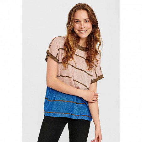 Nümph Bluse, Nucharisma Darlene pullover, Evening Sand numph bluse numph top nümph top på model