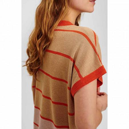 Nümph Bluse, Nucharisma Darlene pullover, Ginger Root numph bluse numph top nümph top med lurex detalje ryg