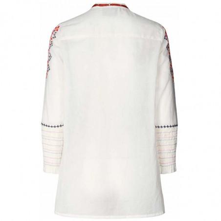Lollys Laundry Bluse, Porto Shirt, Creme Lollys Laundry broderet tunika ryg