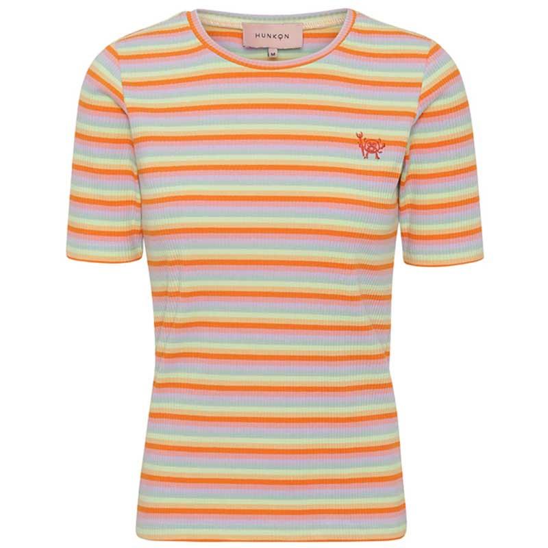 Hunkøn T-shirt, Felipa, Sunrise Hunkon multistribet bluse