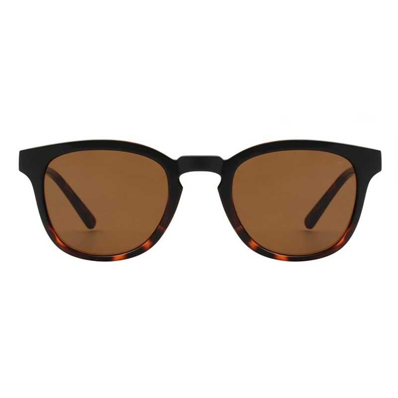 A Kjærbede Solbriller, Bate, Black Demi Tortoise, solbriller til mænd, solbriller til kvinder, unisex solbriller