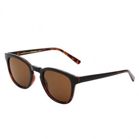 A Kjærbede Solbriller, Bate, Black Demi Tortoise, solbriller til mænd, solbriller til kvinder, unisex solbriller, side