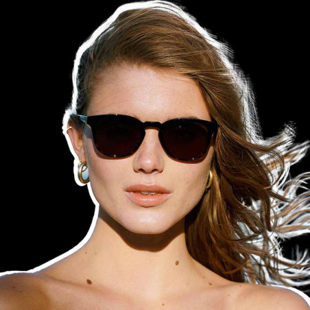 A Kjærbede Solbriller, Bate, Black Demi Tortoise, solbriller til mænd, solbriller til kvinder, unisex solbriller, brune