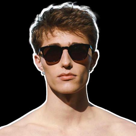 A Kjærbede Solbriller, Bate, Black Demi Tortoise, solbriller til mænd, solbriller til kvinder, unisex solbriller, skildpadde