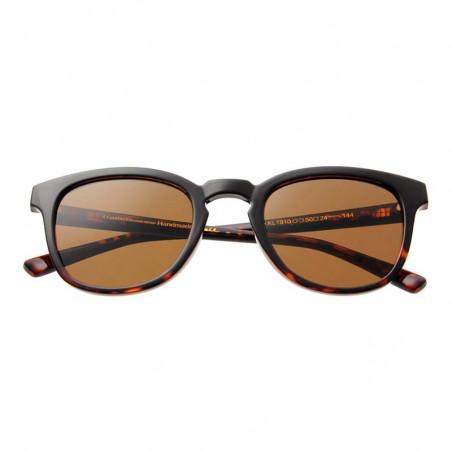 A Kjærbede Solbriller, Bate, Black Demi Tortoise, solbriller til mænd, solbriller til kvinder, unisex solbriller, detalje