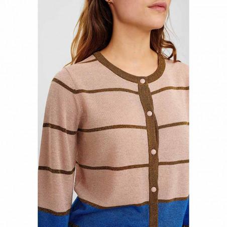 Nümph Cardigan, Nucharisma, Evening Sand Numph trøje med glitter detalje