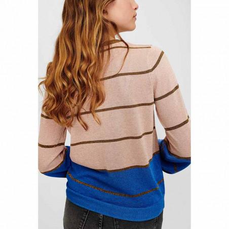 Nümph Cardigan, Nucharisma, Evening Sand Numph trøje med glitter ryg