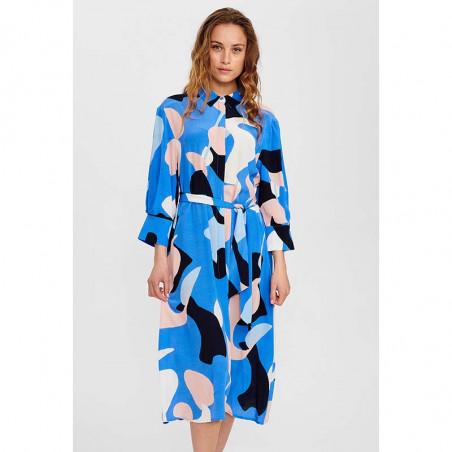 Nümph Kjole, Nucora, Ultramarine Numph kjole hverdagskjole festkjole  skjortekjole på model