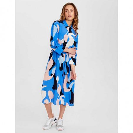 Nümph Kjole, Nucora, Ultramarine Numph kjole hverdagskjole festkjole  skjortekjole look