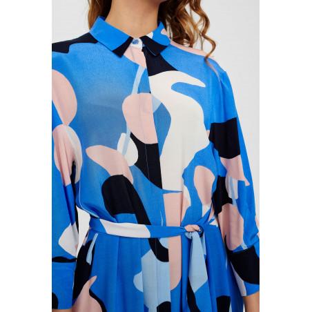 Nümph Kjole, Nucora, Ultramarine Numph kjole hverdagskjole festkjole  skjortekjole detalje
