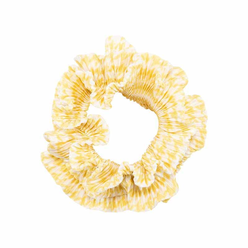 Pico Hårelastik, Flæse Chevron-Scrunchie, Yellow, scrunchie fra pico, pico tilbehør, håraccessories