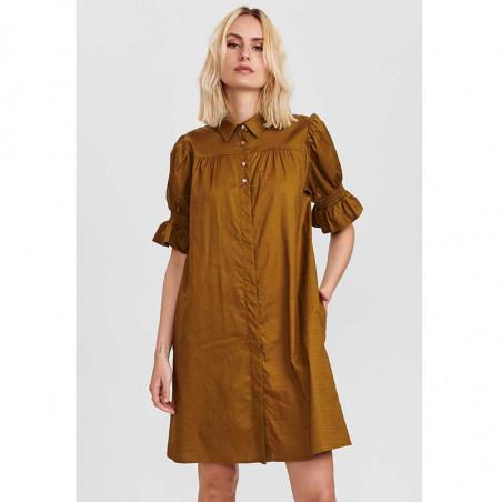 Nümph Kjole, Nucharity Dress, Breen Numph skjortekjole, hverdagskjole på model