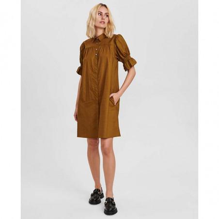 Nümph Kjole, Nucharity Dress, Breen Numph skjortekjole, hverdagskjole look