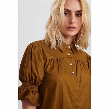 Nümph Kjole, Nucharity Dress, Breen Numph skjortekjole, hverdagskjole detalje knapper