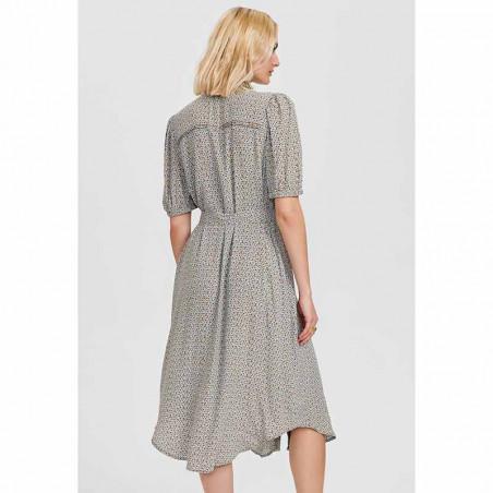 Nümph Kjole, Nucecelia Shirt Dress, Cashmere Blue Numph skjortekjole, hverdagskjole, sommerkjole set bagfra