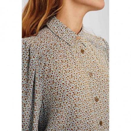 Nümph Skjorte, Nucecelia, Cashmere Blue Numph skjortebluse detalje