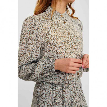 Nümph Skjorte, Nucecelia, Cashmere Blue Numph skjortebluse med print
