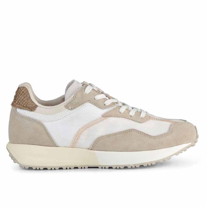 Woden Sneakers, Rose Textile, Whisper White/Silver Lining, gummisko, sneakers fra woden, hvide sko, korksål