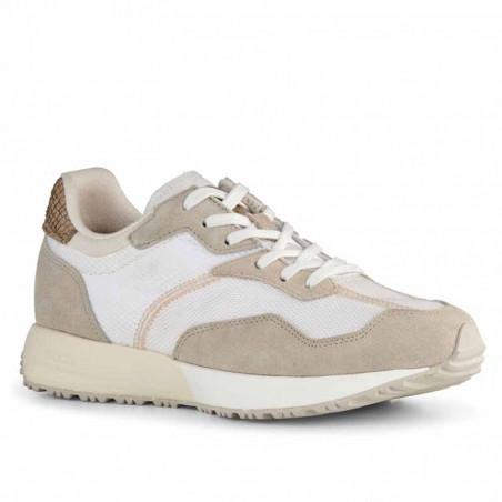 Woden Sneakers, Rose Textile, Whisper White/Silver Lining, gummisko, sneakers fra woden, hvide sko, korksål, genanvendt
