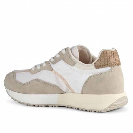 Woden Sneakers, Rose Textile, Whisper White/Silver Lining, gummisko, sneakers fra woden, hvide sko, korksål, side