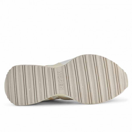 Woden Sneakers, Rose Textile, Whisper White/Silver Lining, gummisko, sneakers fra woden, hvide sko, korksål, sål