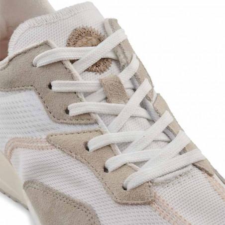 Woden Sneakers, Rose Textile, Whisper White/Silver Lining, gummisko, sneakers fra woden, hvide sko, korksål, detalje