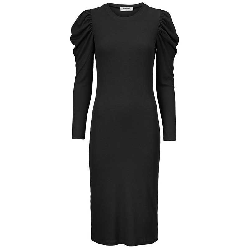 Modström Kjole, Lena, Black, kjole fra Modstrom, Modstrøm, tætsiddende kjole, stram kjole