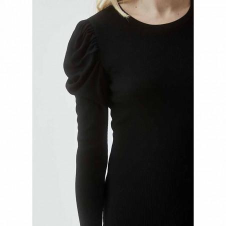 Modström Kjole, Lena, Black, kjole fra Modstrom, Modstrøm, tætsiddende kjole, stram kjole, detalje