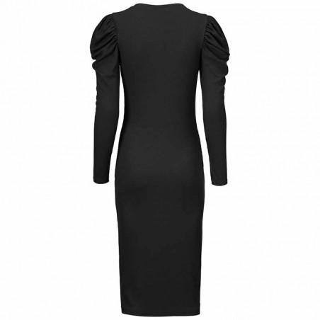 Modström Kjole, Lena, Black, kjole fra Modstrom, Modstrøm, tætsiddende kjole, stram kjole, bagfra