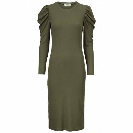 Modström Kjole, Lena, Elmwood, stram kjole, tætsiddende kjole, kjole fra modström, bodycon
