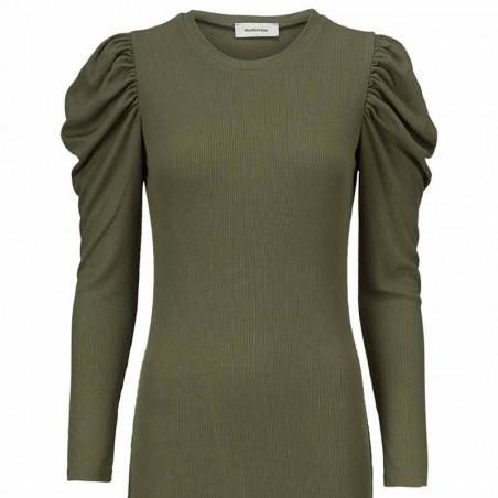 Modström Kjole, Lena, Elmwood, stram kjole, tætsiddende kjole, kjole fra modström, bodycon, grøn kjole