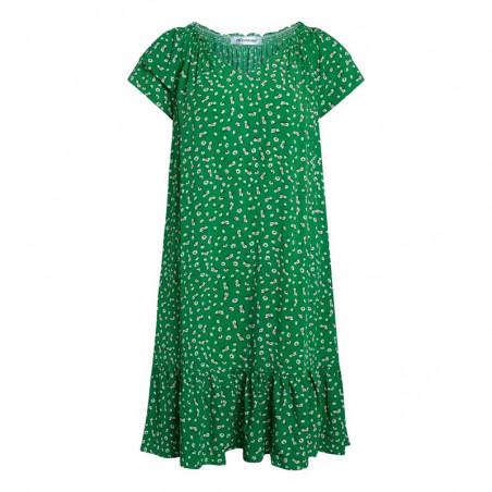 Co'Couture Kjole, Sunrise Crop Green Flower, Green, grøn kjole, sommerkjole, sommertøj, blomstret, blomster