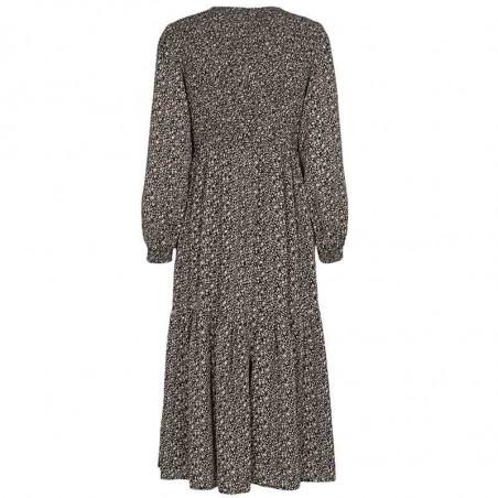 Nümph Kjole, Nucaltum, Caviar, kjole fra Numph, sort kjole, blomstret, smockkjole, dress