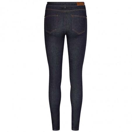 Mos Mosh Jeans, Alli Cover, Dark Blue, denim jeans, stretch jeans, blå bukser, bag
