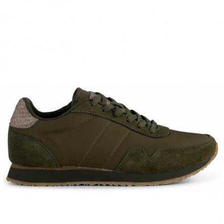 Woden Sneakers, Nora III Leather, Dark Olive