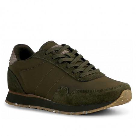 Woden Sneakers, Nora III Leather, Dark Olive side