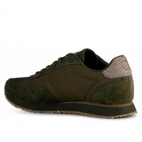 Woden Sneakers, Nora III Leather, Dark Olive set bagfra