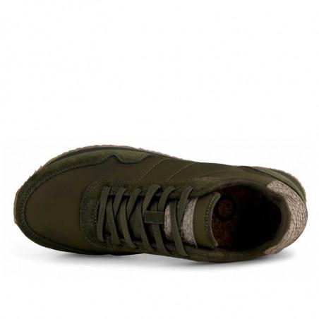 Woden Sneakers, Nora III Leather, Dark Olive top