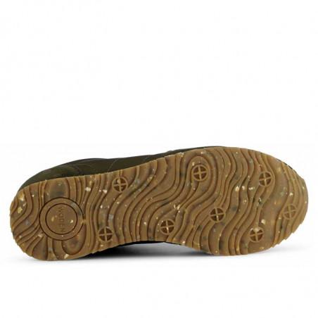 Woden Sneakers, Nora III Leather, Dark Olive sål