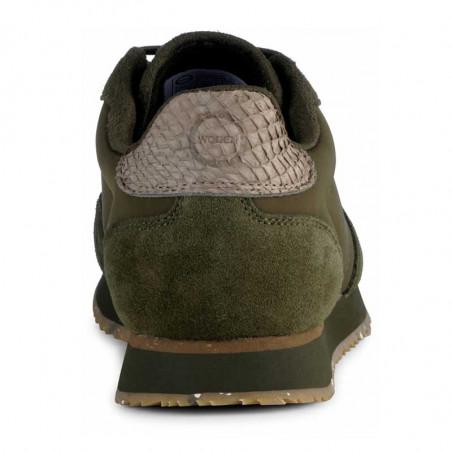 Woden Sneakers, Nora III Leather, Dark Olive hælkap