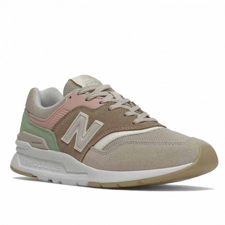 New Balance Sneakers, 997, Tan/Pink, gummisko, sneakers fra New Balance, multifarvede, snude