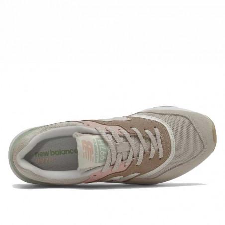 New Balance Sneakers, 997, Tan/Pink, gummisko, sneakers fra New Balance, multifarvede, oppefra