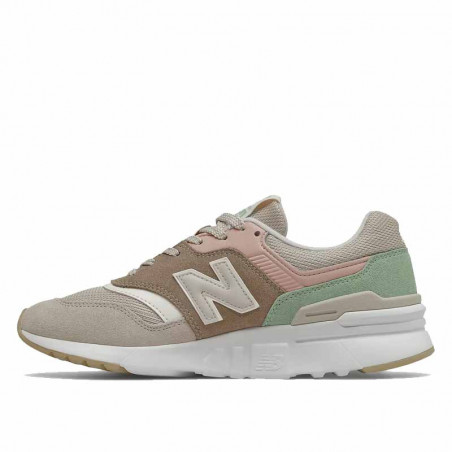 New Balance Sneakers, 997, Tan/Pink, gummisko, sneakers fra New Balance, multifarvede, detalje
