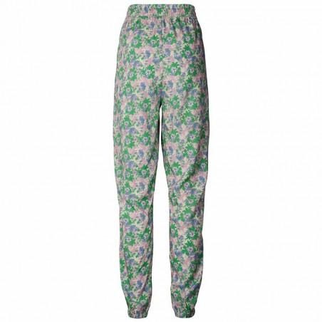 Lollys Laundry Bukser, Mona, Green Flower Print bagfra